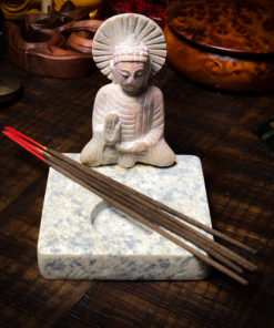 Hand Carved Buddha Candle and Incense Holder The OM Shoppe