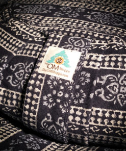 navy blue zafu zabuton meditation pillow set