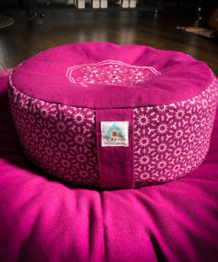 boysenberry zafu zabuton meditation pillow set