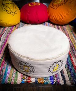 White Zafu Meditation Cushion
