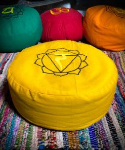 yellow zafu meditation pillow