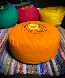 Orange Zafu Meditation Pillow