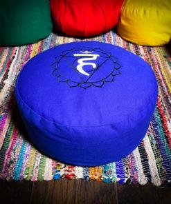 royal blue zafu meditation pillow