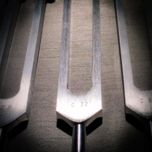 weighted Otto tuning fork 32hz as part of the Earth Toning Tuning Fork Set