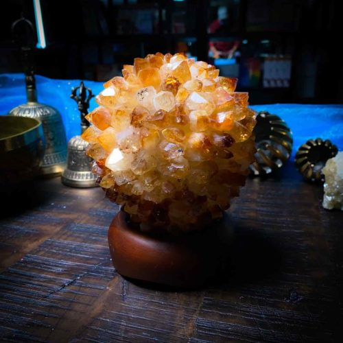 Natural Citrine Crystal Lamp for joy and positivity