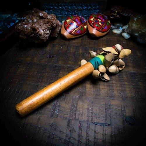 Nut Shell Shaker with Ocarinas