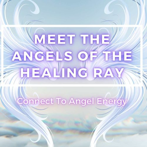 image of clouds with angelic wings saying meet the angels of the healing ray a class on integrative energy therapy at the om shoppe in sarasota florida