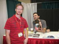 J.W. Braun with fellow LOTR fan Wil Wheaton (Star Trek:TNG, Stand By Me)