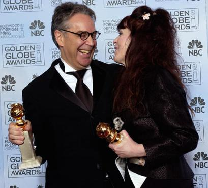 event Howard Shore and Fran Walsh laughing   J R R  Tolkien