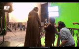 13 The Hobbit Production Video #2 - Hugo Weaving as Elrond and Martin Freeman as Bilbo Baggins in Rivendell