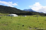 Support tents on location with The Hobbit: wide shot