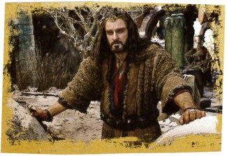 Thorin in the ruins of Dale.