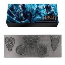 """1 Set of 5 Die-Cut Metal Magnets in """"The Hobbit: The Desolation of Smaug"""" Box – ARV $39.50 ea."""