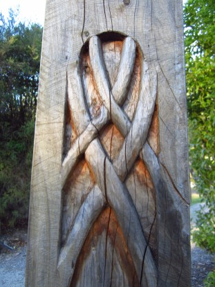 Elven carvings.