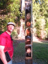 Mike the Guide and a not-so-accurate height chart in Rivendell.