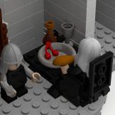 Minas Tirith Citadel denethor eating