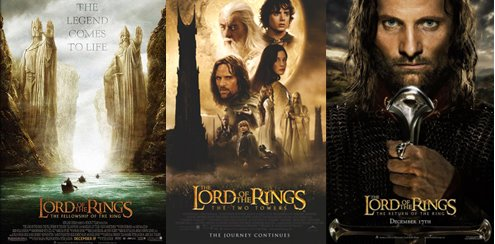 Image result for Lord of the rings Triology  (2001- 2003)""