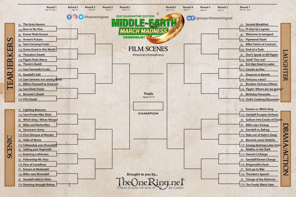 Film Scenes - Middle-earth March Madness 2020
