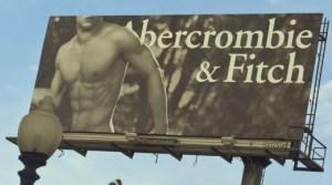 Panneau publicitaire A&F