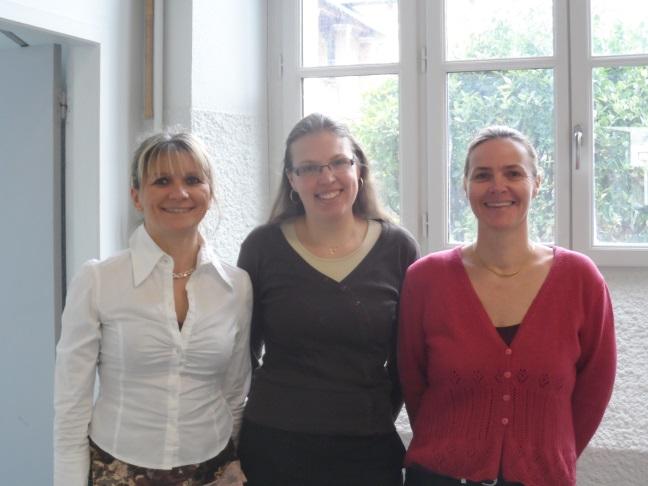La touche féminine de la prépa ! Nathalie Ferreira (Chimie), Alice Stahl (Maths) et Sophie Sadou (Chimie) - © Hervé Cazcarra