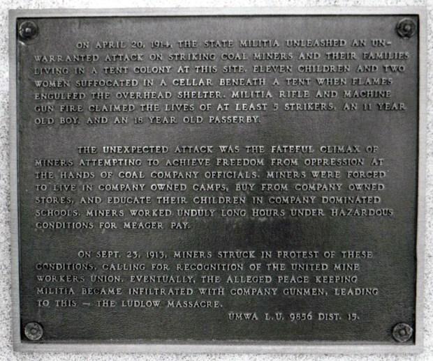 Mémorial du massacre de Ludlow, Colorado, le 20 avril 1914 – © Beverly & Pack https://www.flickr.com/photos/walkadog/3453614201