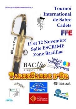 Affiche Sabre d'or Tarbes 2017 ©Amicale Tarbaise Escrime
