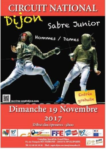 Affiche Circuit National junior Dijon 2017©ASPTT Dijon