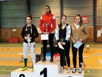 Podium Circuit National junior Dijon Filles 2017 - Rachel Pallot ©ASPPTT Dijon