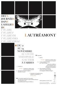 Affiche des journées dans l'atelier de Lautréamont organisées par les Amis d'Isidore Ducasse et Charles Guilhembet