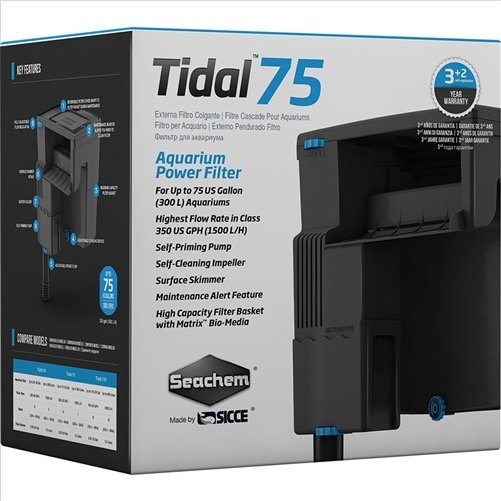 Seachem Tidal 75 Hang on Filter -1500lph
