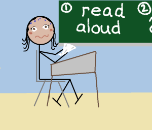 Dyslexic Writer, panic over reading aloud