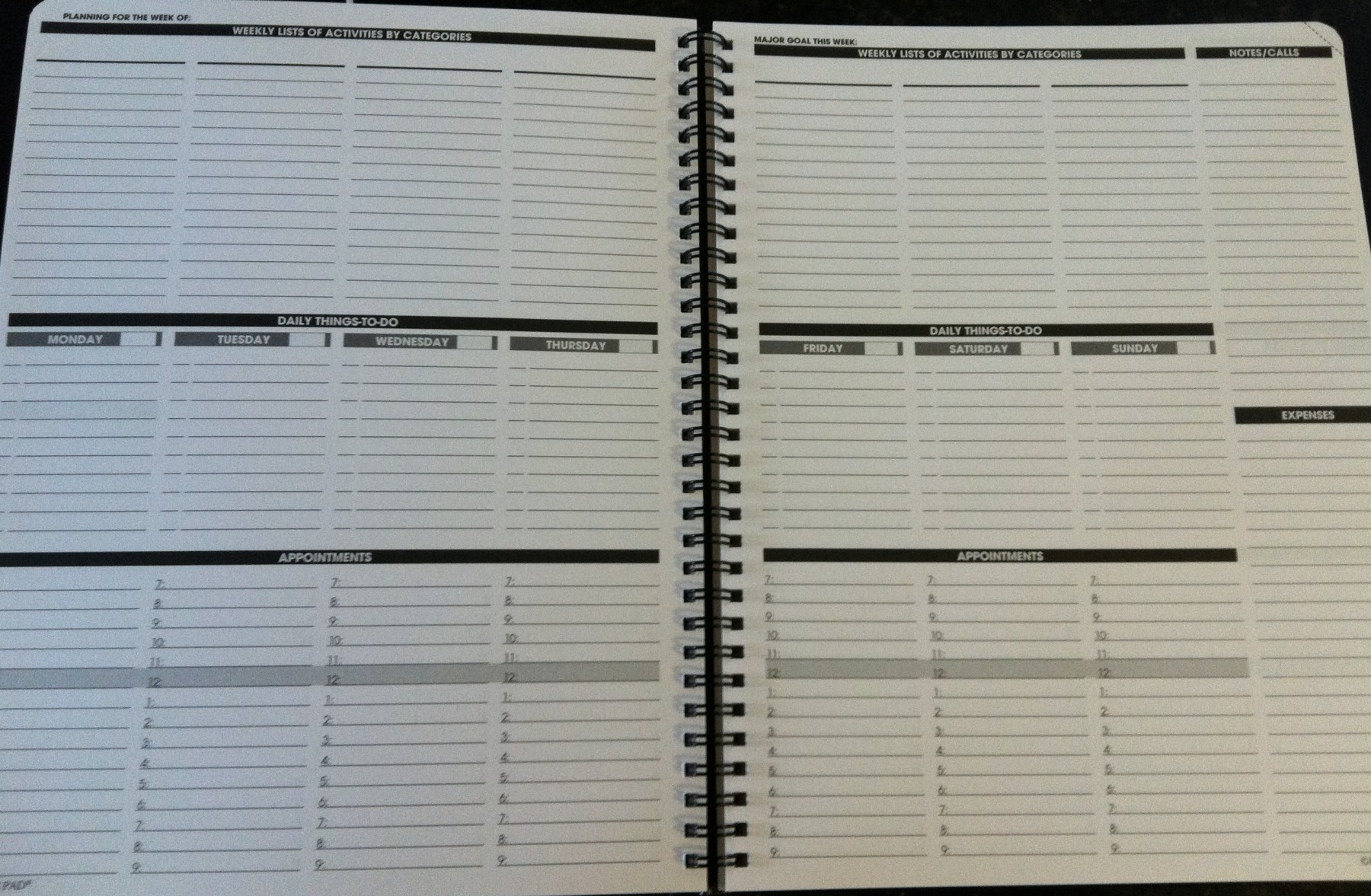 The Open Notebook Tools Planner Pad The Funnel Of Focus