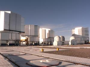 The four domes of the Very Large Telescope on Mount Paranal