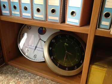 Giulio Selvaggi took down his office clocks and set the hands on both to 3:32 a.m., the time the earthquake struck. Since the acquittal, he has restarted them.