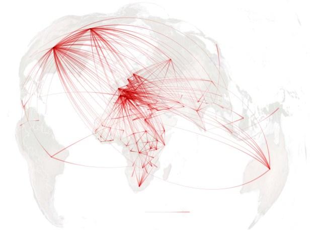 NYT refugee map