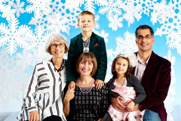 The Mishkin family in 2015, following Steve's injury.