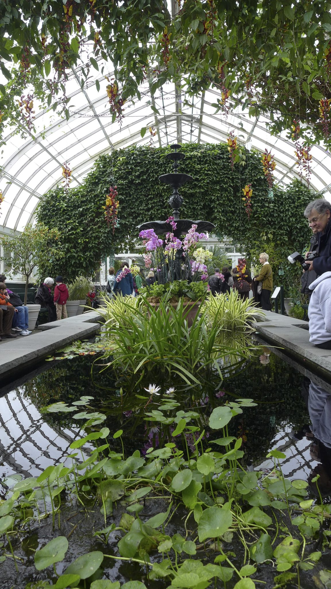 Interior of the Enid Haupt Conservatory of the NYBG in New York City