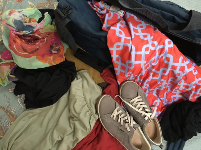 A great African safari packing tip is to get rid of old clothes like these as you go.