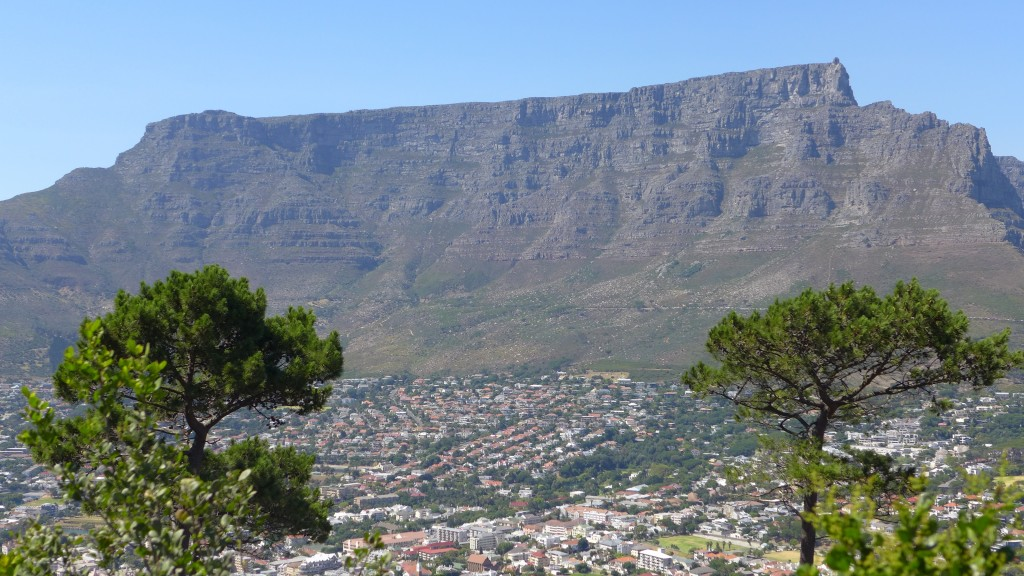 Hiring a tour guide will help you see sights from different vantage points like this view of Table Mountain in Cape Town, South Africa