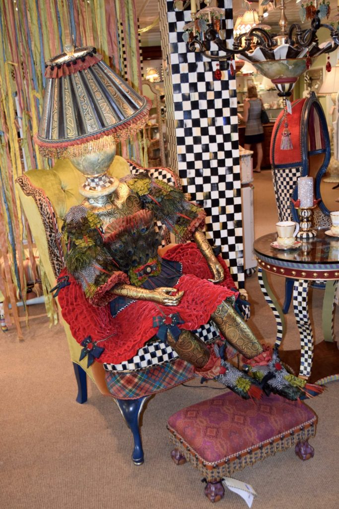 Mackenzie-Childs store display. Discounted merch is available during the annual Mackenzie-Childs barn sale.