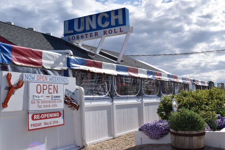 The Lobster Roll restaurant facade in Montauk, NY, a super beach destination for families