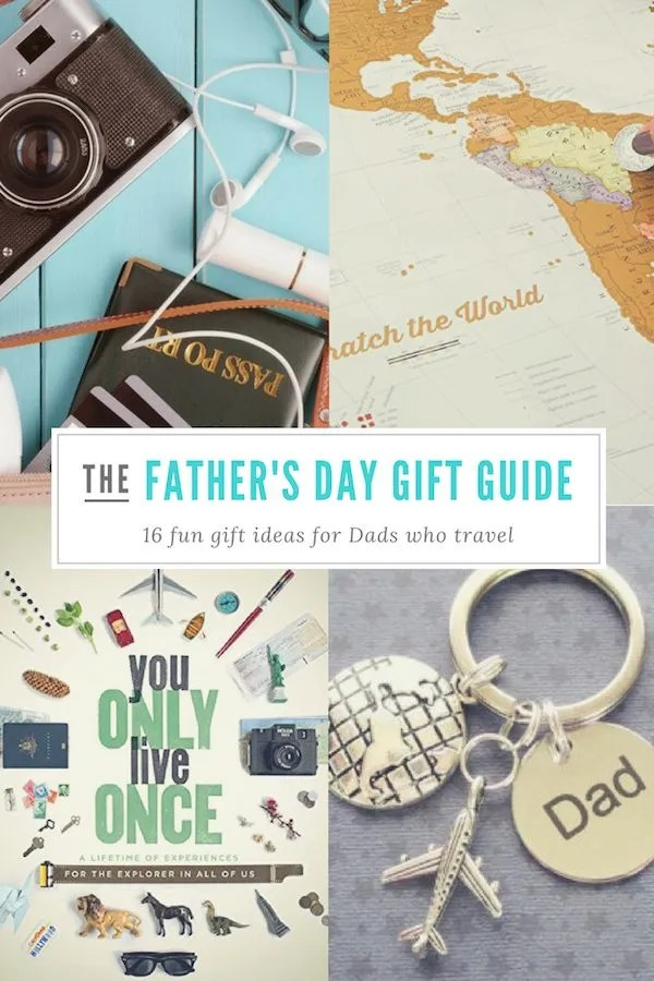 Does your Dad travel? Whether he's on the road for business or pleasure, get him a Father's Day gift he can really use. Here are 16 great Father's Day gift ideas. #fathersday #uniquegifts #presents