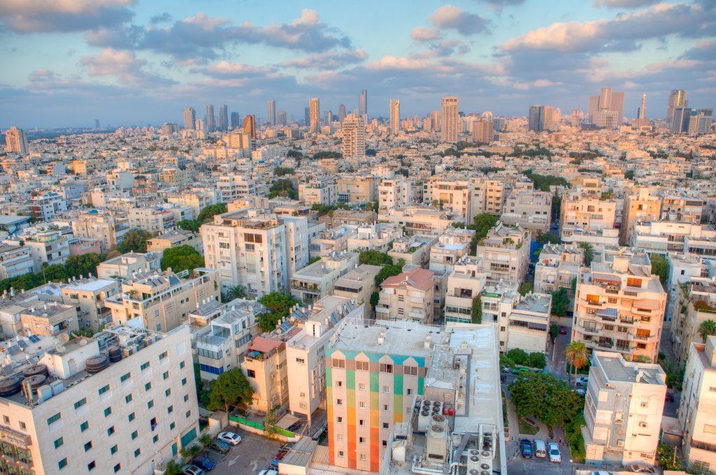 Panoramic view of Tel Aviv in Israel