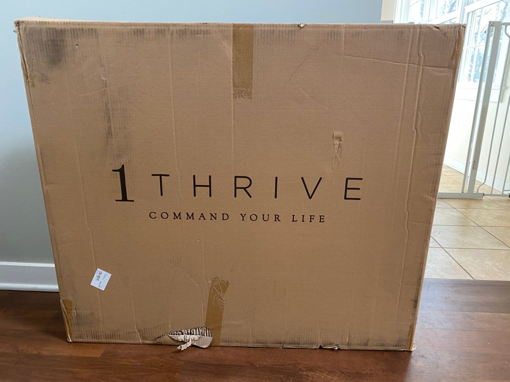 Large cardboard box containing a 1Thrive command center