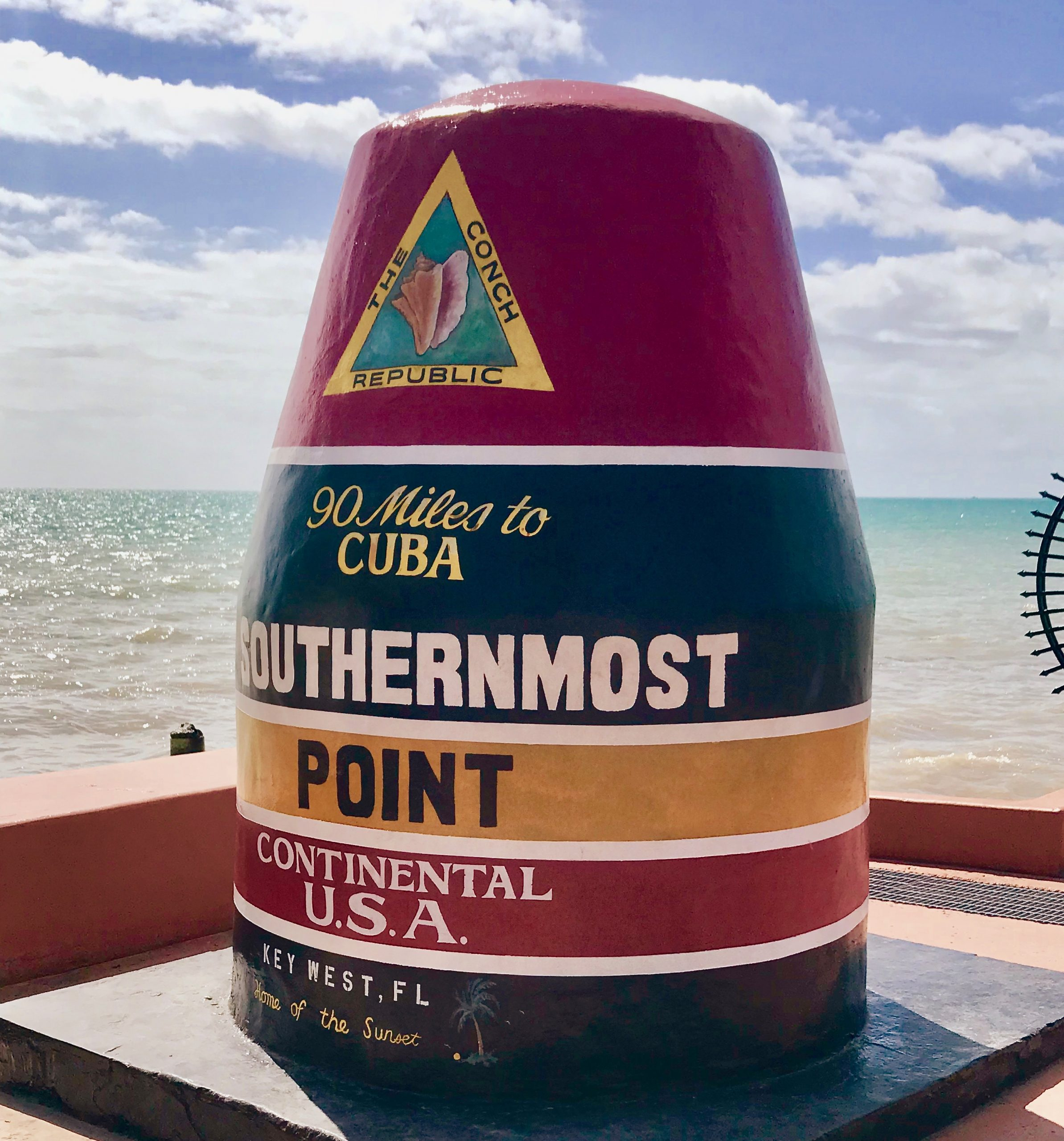 southernmost point marker in key west fl, a super east coast beach town