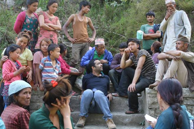 Mr.Anshu Gupta interacting with local villagers in Nepal