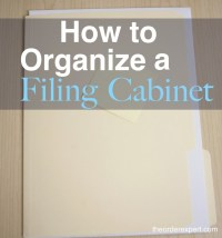 How to Organize a Filing Cabinet