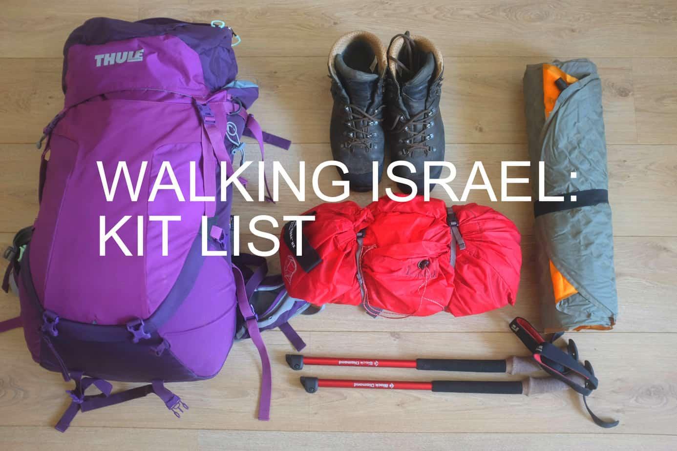 Israel Kit List