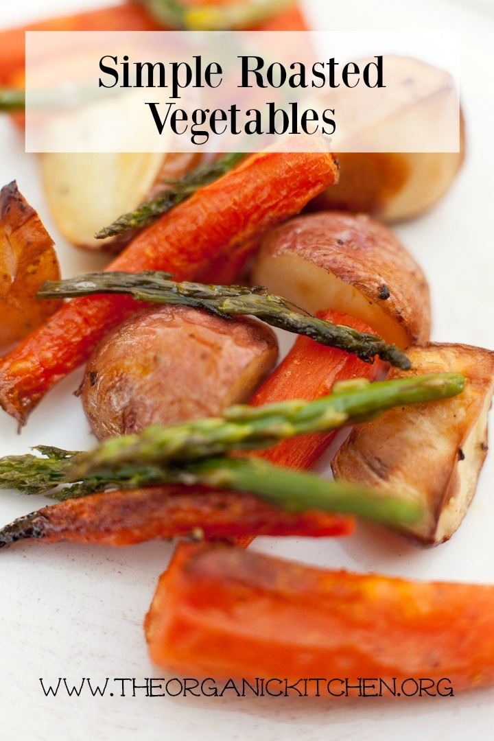 Simple Roasted Vegetables: carrots, asparagus, carrots