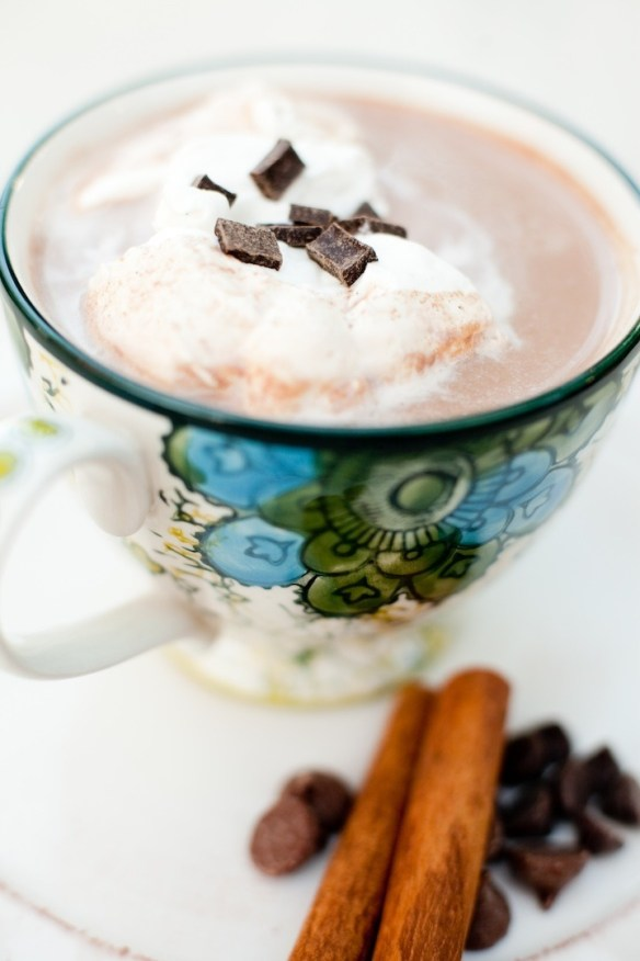 Spiced Hot Chocolate with Vanilla Whipped Cream